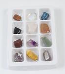Комплект подвесок Радуга камней-самоцветов 1-01