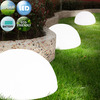 Deuba Solar Garden Lights 3 Pieces Set Outdoor Patio Pathway Security Solar Powered Lawns Lamp