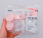 Дорожный набор 3 флакона+2 баночки Розовый