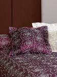 Чехол подушки Isa с вышитыми цветами сатин