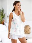 Пижама с кружевами и принт бабочки