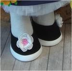 Готовые туфельки для куколки, ручная работа ТГ-005