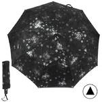 Зонт женский PS-6847, R=58см, полуавт; 9спиц-сталь+fiber, 3слож, жаккард, серебро/черный