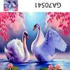 """Алмазная мозаика полная выкладка на рамке, АМ45 GA70541""""Два лебедя"""", 40х50 см"""