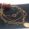 Красивое ожерелье из цепей с монеткой