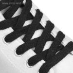 Шнурки для обуви, 10 мм, 120 см, пара, цвет чёрный 10 ПАР