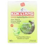 Лечебное мыло для проблемной кожи и борьбы с постакне, пигментными пятнами, морщинками Aloe Vera & Mineral Water от Kokliang 90 гр