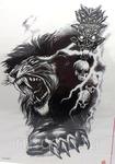 Черно-белые переводные татуировки