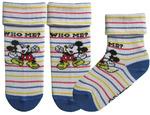 """Детские носки """"Белый микки в полоску"""" (длина стопы 16-18 см)"""
