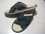 066-Обувь домашняя (Тапочки кожаные) мужские