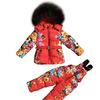 М.17-45 Комплект Moncler красный цветы - цветной мех