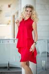 Платье-рубашка красное 7825