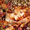 Картина по номерам Paintboy «девушка среди насекомых, кроликов и цветов»