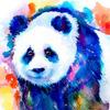 Картина по номерам Номерашка (Paintboy) «медведь-панда в акварели»