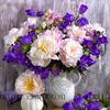 Картина по номерам Номерашка (Paintboy) «букет с розами и колокольчиками»