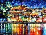 Картина по номерам Номерашка (Paintboy) «отражение ночного города в реке»