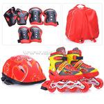 Ролики U028432Y (размер L39-42) красные,в сумке