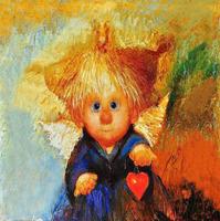 Картина по номерам Raduga (Paintboy) «рыжий ангелок и сердце»