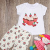 Пижама для девочки (футболка + бриджи) (артикул 20-411)