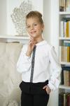 Блузка школьная, белая, р-ры 134-164