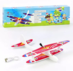Самолет планер с мотором и зарядкой от USB