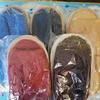 Махровые тапочки с открытым мыском. 41-43 размер