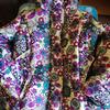 Куртка зимняя экзотические цветы 146 см