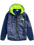 Куртка для мальчиков переходная с капюшоном темно-синяя Denley HB1884