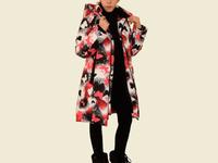 Пальто зимнее для девочки, модель ЗП66, цвет butterfly