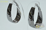 Широкие серьги кольца из качественного родиевого сплава, цвет- черненое серебро. СЕРЬГИ-SM42883