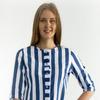 Рубашка женская РК-123 синяя