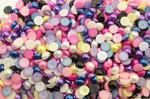 Полубусины под жемчуг (микс) 8мм в упаковке 500 гр. N50/73