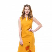 Платье льняное длинное PL10 (принт указываем в комментариях)