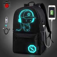 SR-B184  Городской рюкзак с флуоресцентным рисунком, кодовым замком и  USB