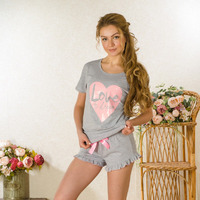 Пижама кулирка Валентинка