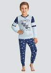Пижама для мальчика, Baykar (рост 122-146), голубой