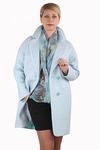 Пальто демисезонное Букле Голубой