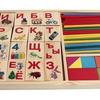 Дерев. игрушка. Набор для счета. АЗБУКА. ПАЛОЧКИ И БЛОКИ (40 пал.40 блок с карт.8 брус)