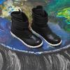 Черные ботинки космоботы из экокожи