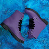 Фиолетовые ботинки на тракторной подошве