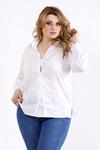 Белая универсальная блузка-рубашка