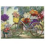 """Ткань с рисунком для вышивания лентами """"Цветы для любимой"""" 25,5х35см кл 3021"""