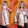 Своеобразная стильная новинка из коллекции представлена этой теплой курткой на запах. 48-50 52-54