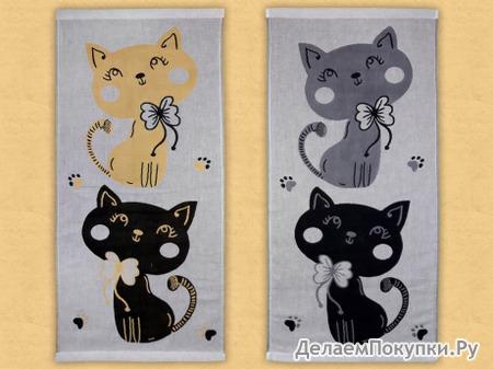 """Полотенце """"Кошки"""" арт. 6039-8 (ряды)"""