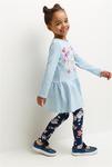 Комплект для девочек ((1) платье и (2) рейтузы) Male set набивка [20224200003#0]