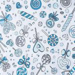 Ткань на отрез бязь плательная 150 см 8107 Карамель цвет бирюза (на отрез от 1 м)