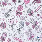 Ткань на отрез бязь плательная 150 см 8107 Карамель цвет розовый (от 1 м)