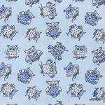 Ткань на отрез поплин 150 см 1769/6 цвет голубой (от 1 м)