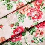 Ткань на отрез рогожка 150 см 8121/1 Розалия цвет красный (от 1 м)
