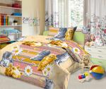 Детское постельное белье из бязи 1,5сп с 1 наволочкой 70х70 - Кис-кис (4530)